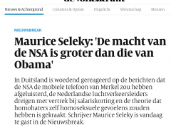 Interview in De Volkskrant