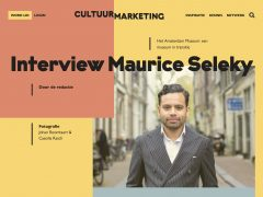 Cultuurmarketing interviewt Maurice Seleky