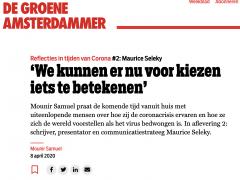 Mounir Samuel interviewt Maurice Seleky voor De Groene Amsterdammer